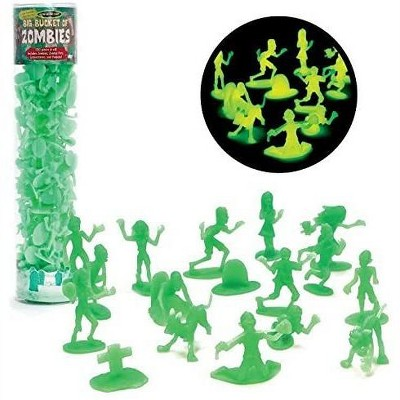 Hingfat Zombie Glow in the Dark Action Figure Toy Playset, 100 Pieces