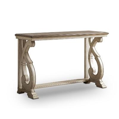 Myrtle Solid Wood Sofa Table Dark Oak - HOMES: Inside + Out