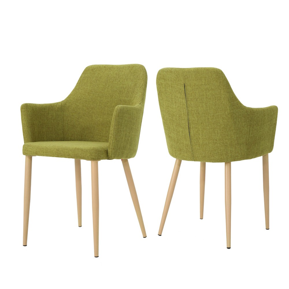 Set of 2 Zeila Mid - Century Dining Chair Green - Christopher Knight Home was $229.99 now $149.49 (35.0% off)