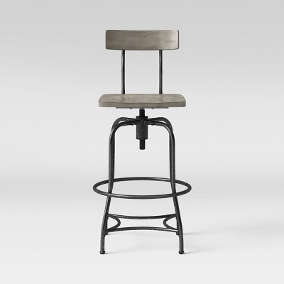 Woodsboro Adjustable Barstool Gray - Threshold™