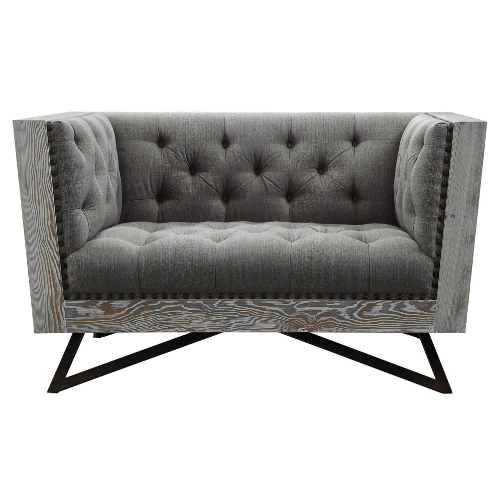 Armen Living Regis Contemporary Chair Gray