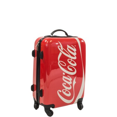 "Coca Cola 21"" Hardside Carry On Spinner Suitcase - Red"