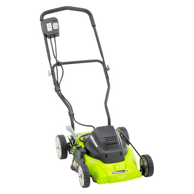 14  120 Volts, 60Hz, 8 Amp, 960 Watts Corded Electric Lawnmower - Green - Earthwise