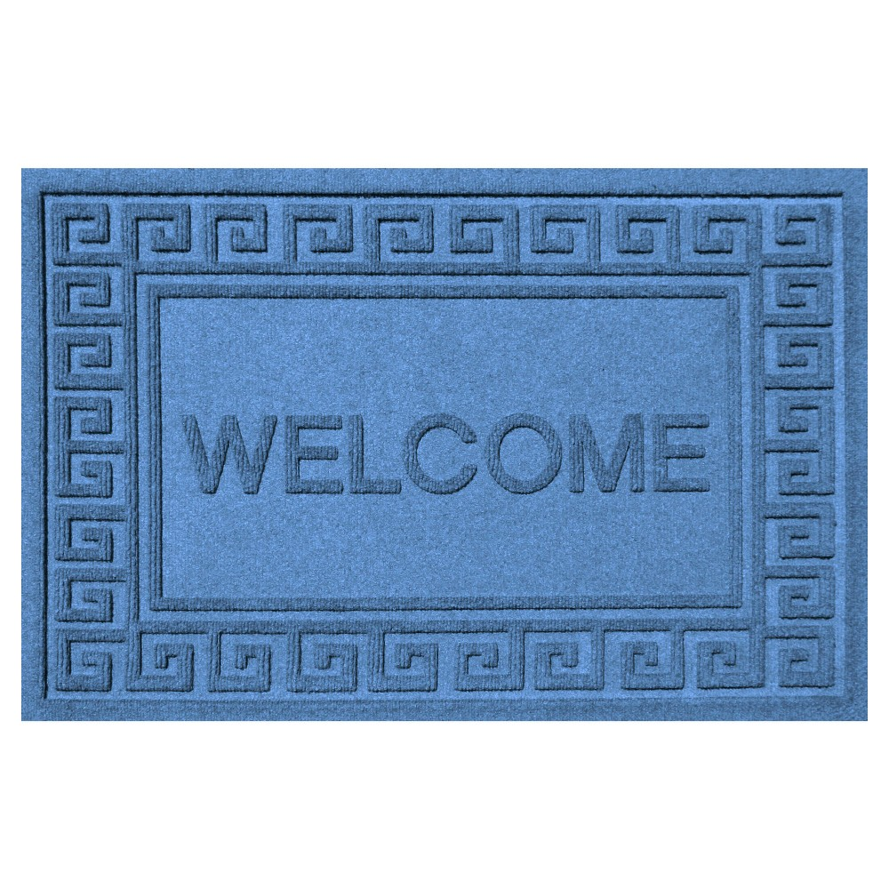 Medium Blue Typography Doormat - (2'X3') - Bungalow Flooring