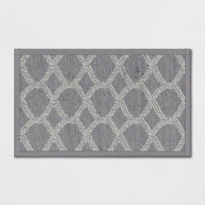 "20""x34"" Flat Weave Kitchen Rug Gray - Threshold™"