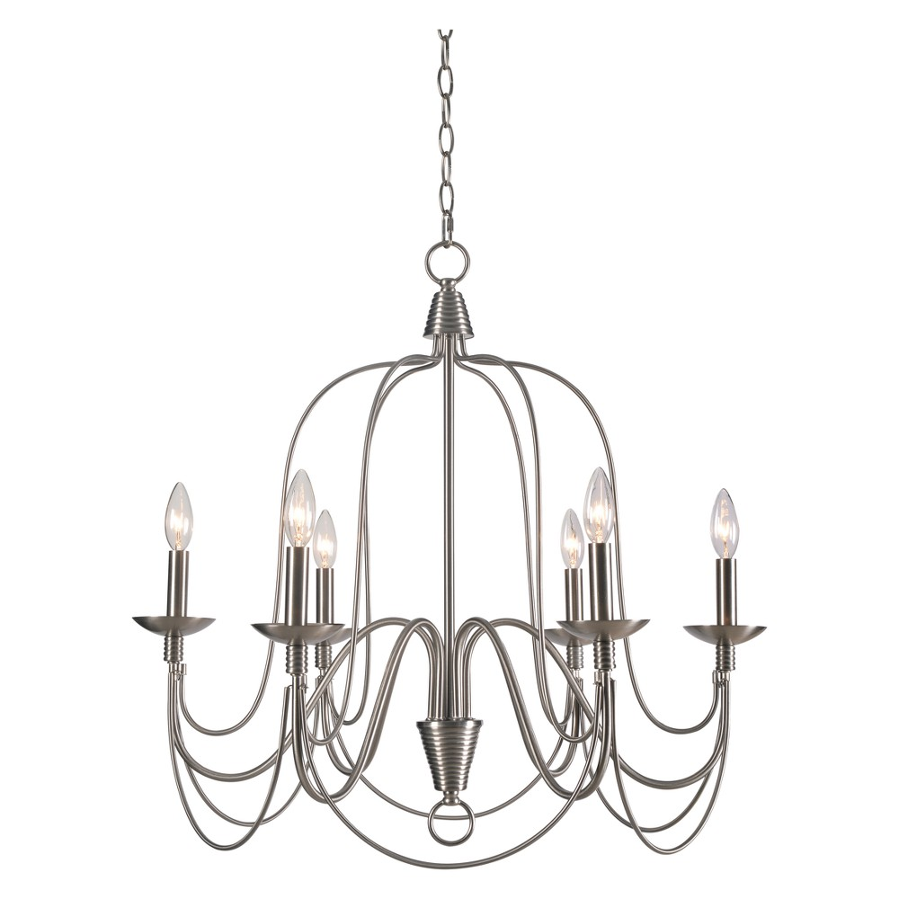 Pannier 6 Light Chandelier - Kenroy Home, Multi-Colored
