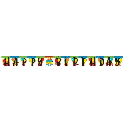 3ct Rainbow Birthday Cake Party Banner