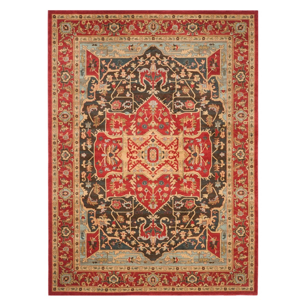 Medallion Area Rug Red/Red