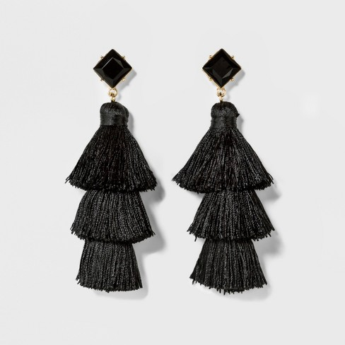 SUGARFIX by BaubleBar Tassel Drop Earrings with Crystal Studs - image 1 of 2