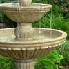 "55""H Polystone Classic 3-Tier Designer Outdoor Water Fountain - Sunnydaze Decor - image 2 of 4"