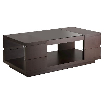 Carlita Modern Open Shelving Design Coffee Table Walnut - HOMES: Inside + Out