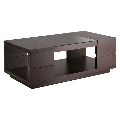 Carlita Modern Open Shelving Design Coffee Table Walnut - HOMES: Inside + Out - image 1 of 4