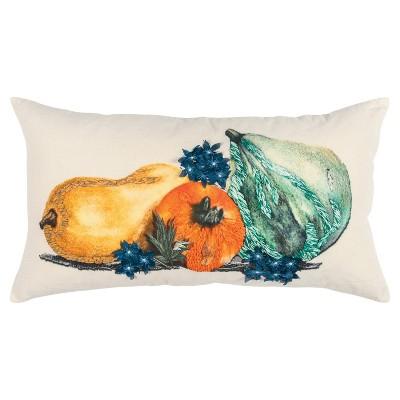 "14""x26"" Oversized Gourds Lumbar Throw Pillow - Rizzy Home"