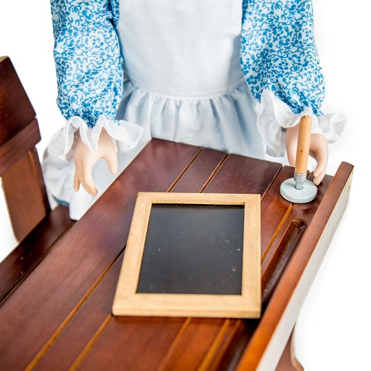 "Little House Antique Style School Desk, Ink Wells & Pens Fits Two 18"" Dolls image number null"