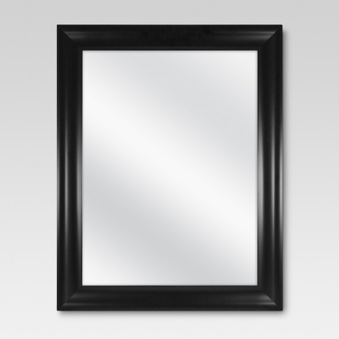 rectangle flat decorative wall mirror black - threshold™ : target