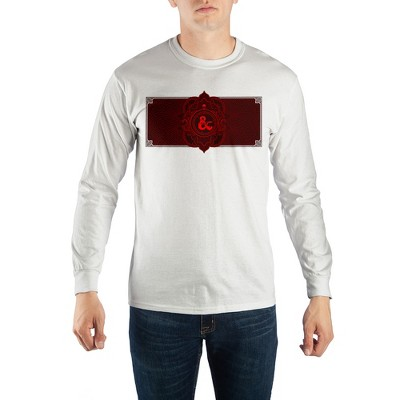 Dungeons and Dragons Game Mens Long Sleeve White Shirt