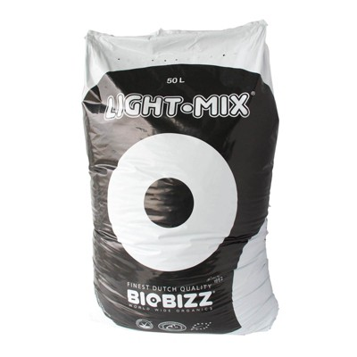 BioBizz BBLM50L Light-Mix 50L Organic Farming Plant Growing Mix Substrate Bag for Indoor and Outdoor Hydroponic Gardens, (Single)