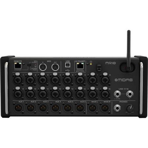 Midas MR18 18-Input Digital Mixer for iPad/Android Tablets with Wi-Fi and USB Recorder - image 1 of 4