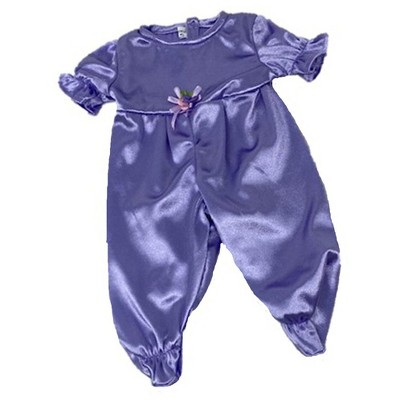 Doll Clothes Superstore Lavender Satin Finish Jumpsuit Fits 15-16 Inch Baby Dolls
