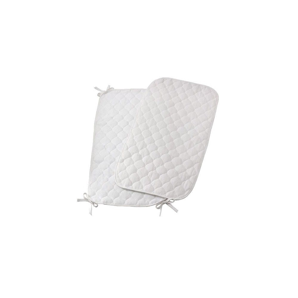 Royal Heritage 2pk Quilted Terry Sheet Saver - White