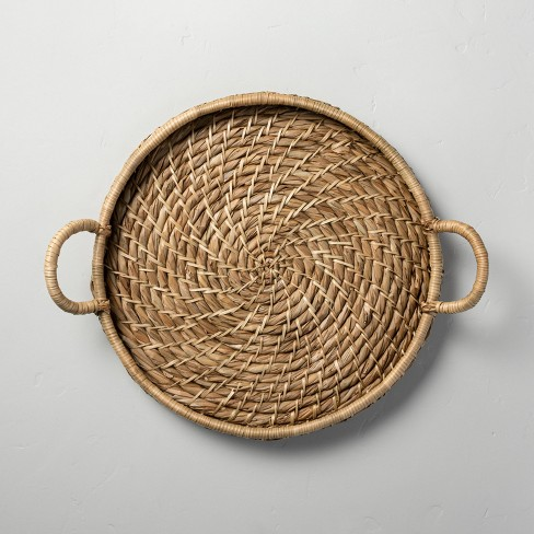Woven Circular Serve Tray with Handles - Hearth & Hand™ with Magnolia - image 1 of 4