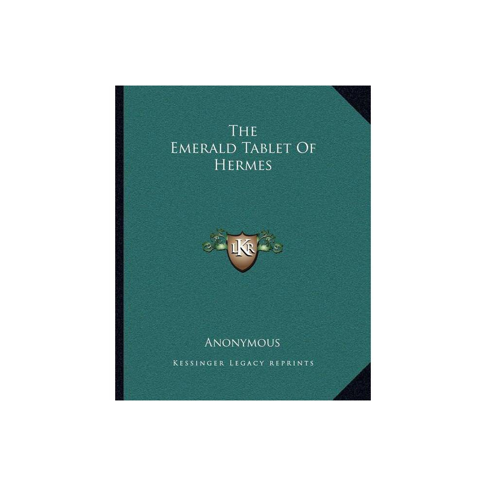 The Emerald Tablet of Hermes - (Paperback)