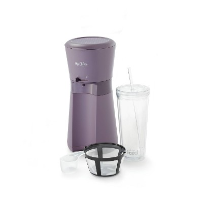 Mr. Coffee Iced Coffee Maker with Reusable Tumbler and Coffee Filter - Lavender