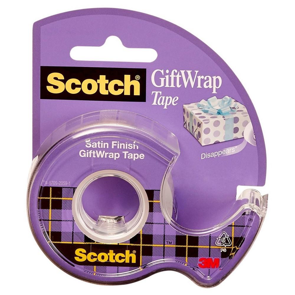Scotch GiftWrap Tape, 3/4 x 700, Clear