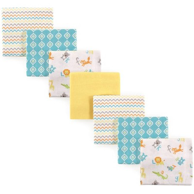 Luvable Friends Unisex Baby Cotton Flannel Receiving Blanket - Abc One Size 7pc