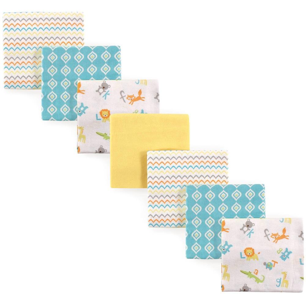Luvable Friends Unisex Baby Cotton Flannel Receiving Blanket Abc One Size 7pc