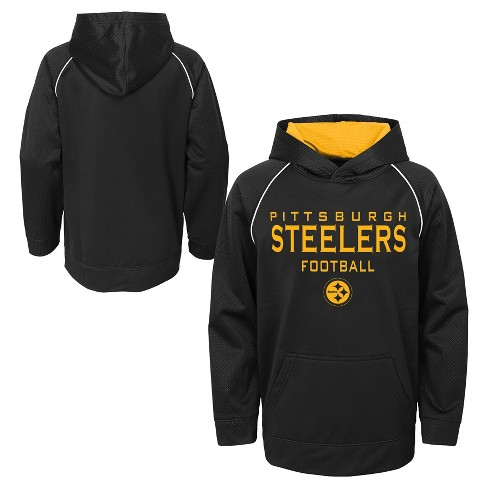 NFL Pittsburgh Steelers Boys  In The Game Poly Embossed Hoodie   Target e76ed35d8