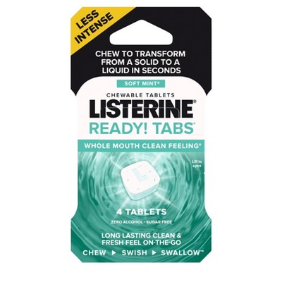 Listerine Ready Tabs Soft Mint - Trial Size - 4ct