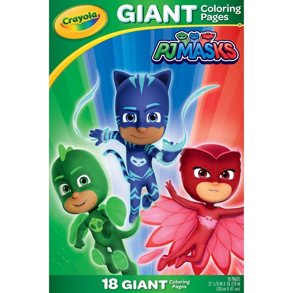 Image of Crayola Disney PJ Masks 18pg Giant Coloring Pages
