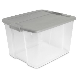 66qt Latch Box Clear with Cement Lid and Latches - Room Essentials™