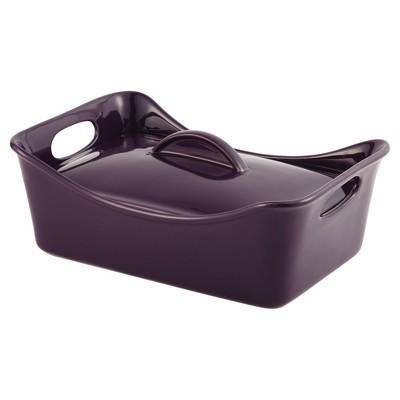 Rachael Ray Stoneware 3.5 Quart Rectangular Covered Casserole & Baking Dish - Purple