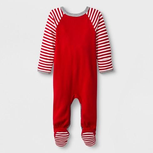 abfc40ffa Baby Boys  2pc Long Sleeve Sleeper And Bib - Cat   Jack™ Red   Target