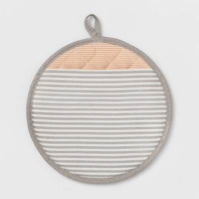 Stripe Silicone Pot Holder Taupe - Project 62™
