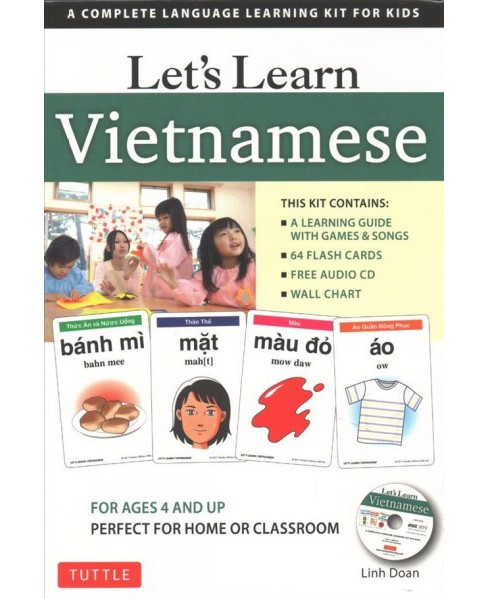 Let's Learn Vietnamese : A Complete Language Learning Kit for Kids (Paperback) (Linh Doan) - image 1 of 1