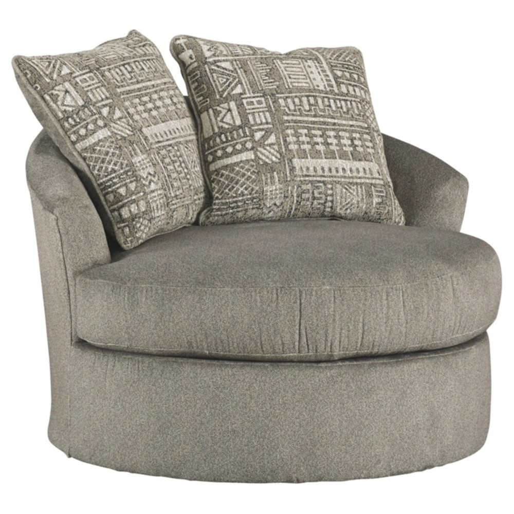 Soletren Swivel Accent Chair Ash Gray - Signature Design by Ashley
