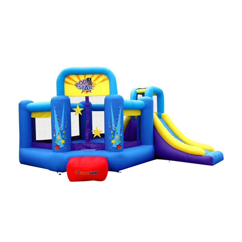 Bounceland Pop Star Bounce House with Slide, Blue