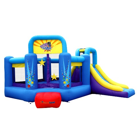 Bounceland Pop Star Bounce House with Slide - image 1 of 4