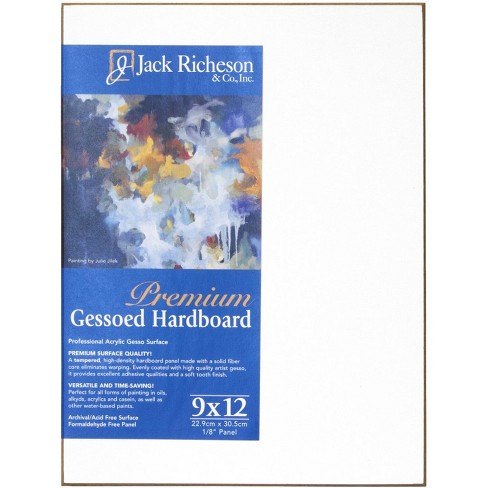 Jack Richeson Gessoed Hardboard Panel, 9 x 12 x 1/8 Inches, White - image 1 of 1