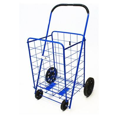 "ATHome 43""X21""X3.5"" Shopping Utility Storage Cart Blue"