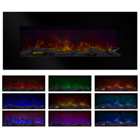 Northwest 50 Quot Color Changing Led Electric Fireplace With
