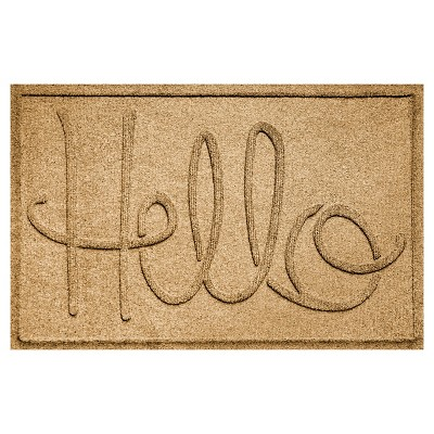 Gold Typography Pressed Doormat - (2'X3')- Bungalow Flooring