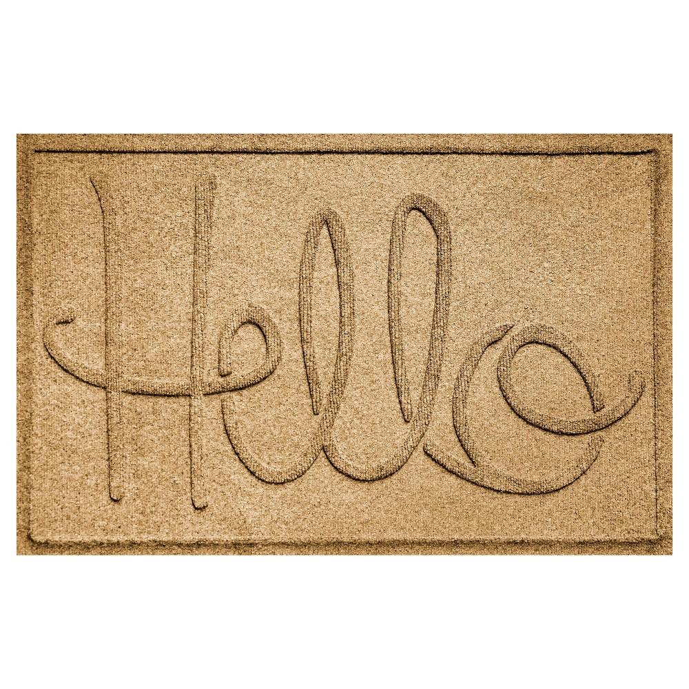 Image of Gold Typography Pressed Doormat - (2'X3') - Bungalow Flooring