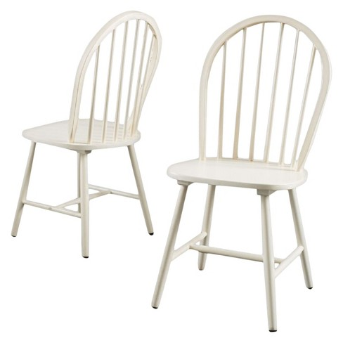 Countryside High Back Spindle Dining Chair Antique White (Set of 2) -  Christopher Knight Home - Countryside High Back Spindle Dining Chair Antique White (Set Of 2