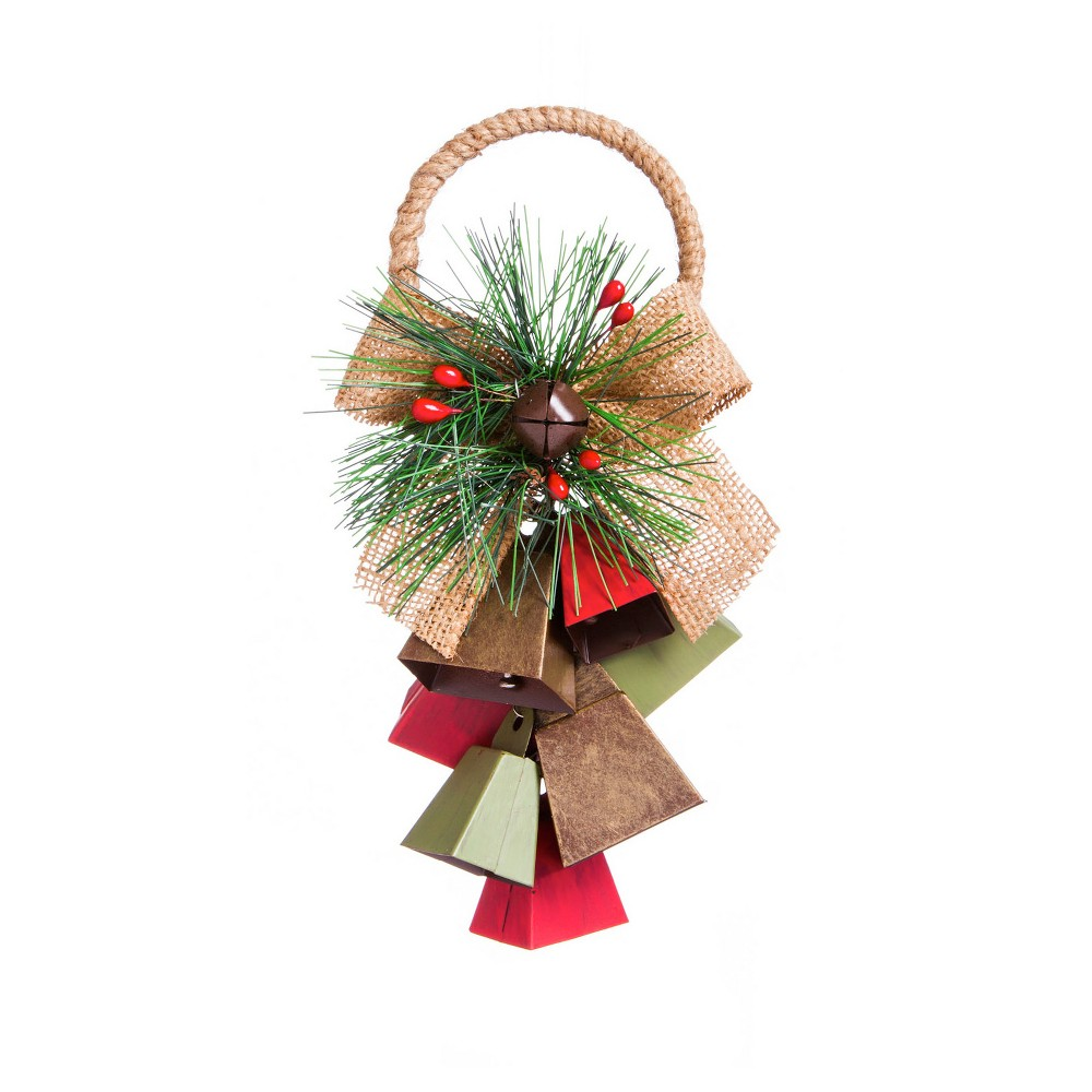 Image of Metal Bell Cluster Hanging Décor, Multi-Colored