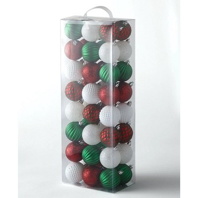 Lakeside Shatter Resistant Christmas Tree Ornament Set - 48 Pieces