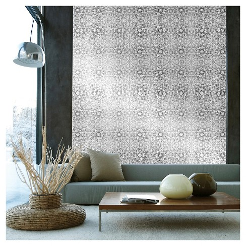 Tempaper - Medallion Self-Adhesive Removable Wallpaper  - Platinum - image 1 of 2